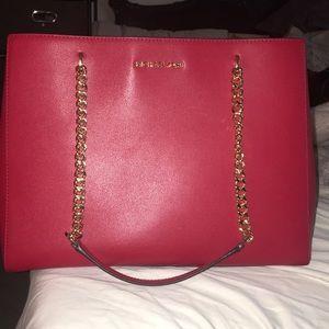Red Michael kors bag